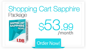 Shopping Cart Sapphire Package