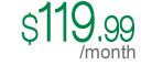 $119.99/month